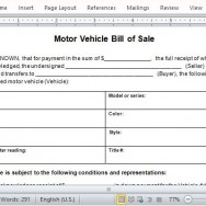 Protect Both Parties with Bill of Sale Document