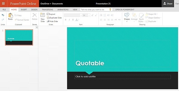 free quotes powerpoint template