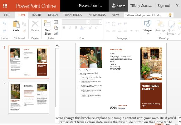 Business brochure powerpoint templates for Brochure templates for powerpoint