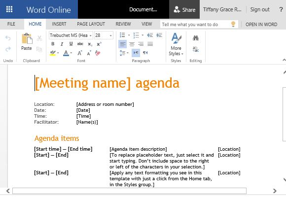 Charming Template Throughout Creating An Agenda Template