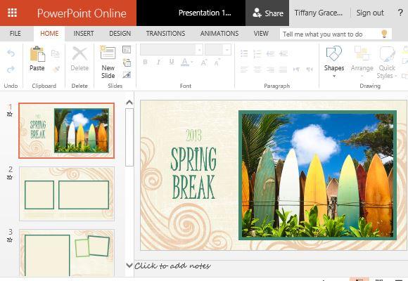 Spring Photo Album Powerpoint Template