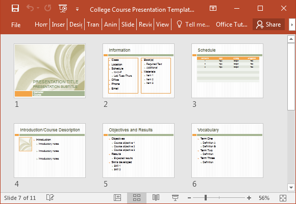 college syllabus presentation template for powerpoint, Powerpoint templates
