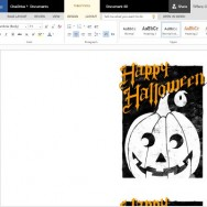 Spooky Yet Elegant Halloween Greeting Card Template