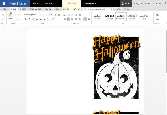 Spooky Yet Elegant Halloween Greeting Card Template