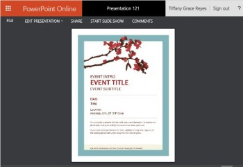 Powerpoint Flyer Template