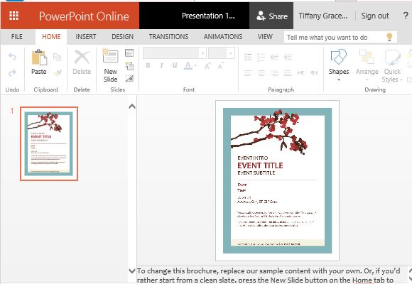 printable spring flyer powerpoint template, Modern powerpoint