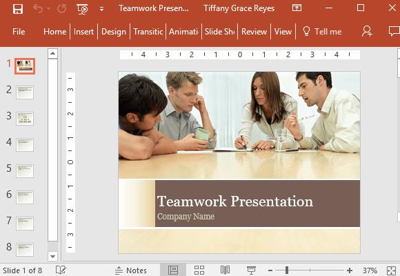Free Teamwork Powerpoint Template