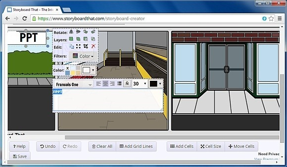 Textboxes to storyboards