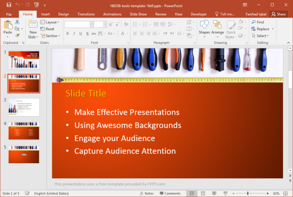 Tools Template for PowerPoint