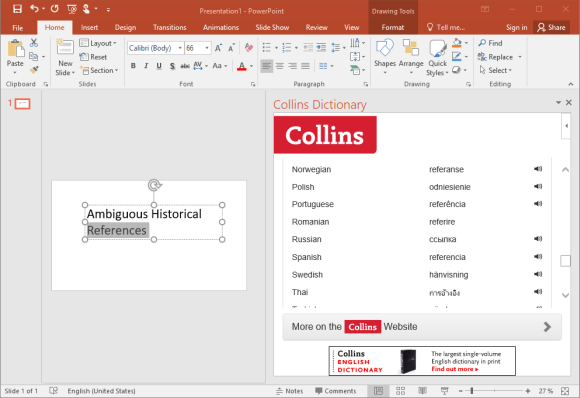 Translate Text in Office Applications