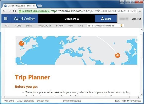 microsoft trip planner