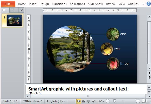 Free powerpoint smartart picture diagram template for Microsoft office smartart templates