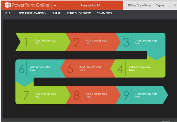 Process Flow Template Powerpoint Zrom