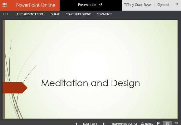 Elegant Wisp Themed Powerpoint Online Template