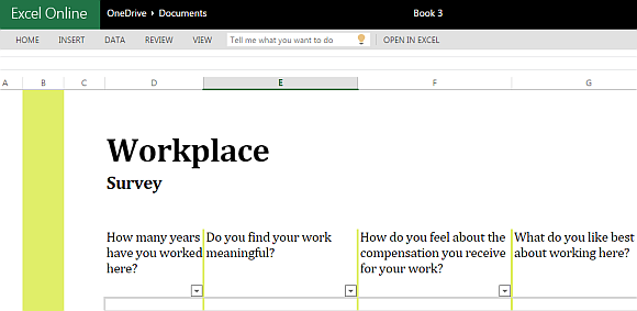 Workplace Survey Template For Excel  Free Survey Templates
