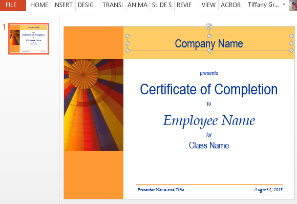 Certificate templates archives how to make printable training completion certificate yadclub Choice Image