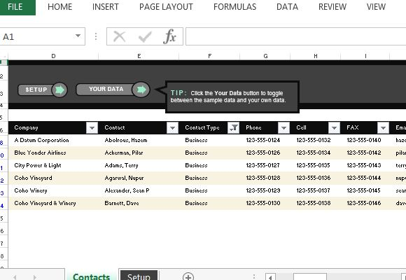 Customer Contact List Excel Template – Contact Information Template