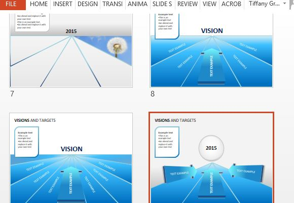Vision and targets powerpoint template add images and other text to further customize toneelgroepblik Choice Image