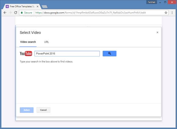 add youtube videos to google forms
