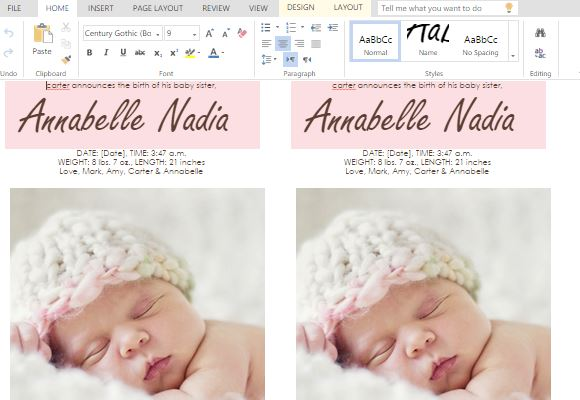 baby birth announcements templates for free - ms word templates for making cards for child birth