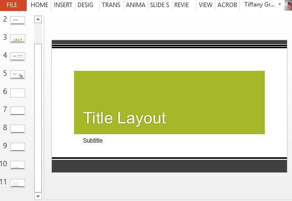 widescreen modern design green powerpoint template