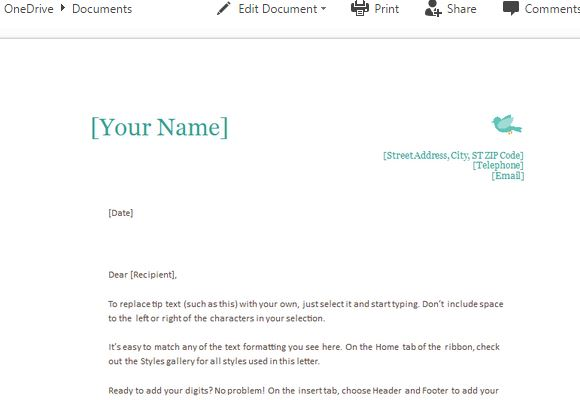 How to Create Personal Letterhead Using MS Word
