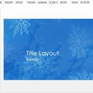 beautiful-powerpoint-template-with-snowflake-effect-on-blue-background