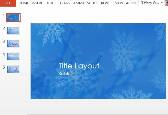free snowflakes new year powerpoint template