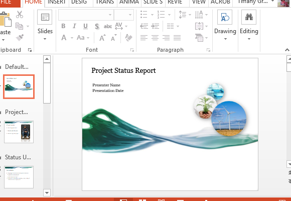 project progress report powerpoint template