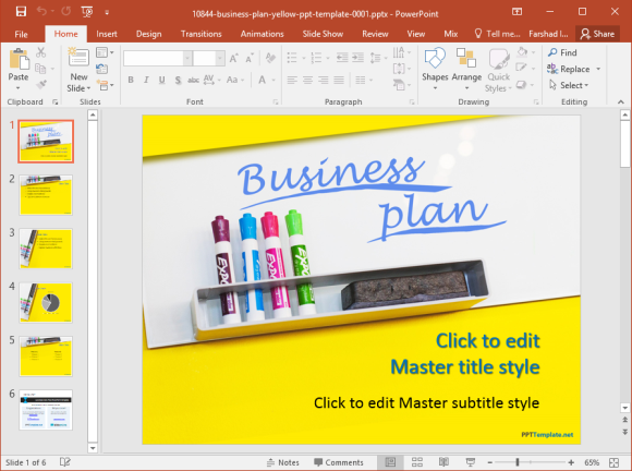 Free business plan powerpoint template wajeb
