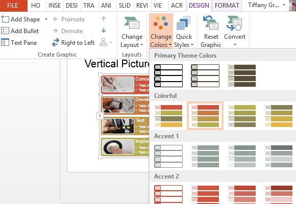 Vertical picture list diagram template for powerpoint change and customize the template to suit your toneelgroepblik Images