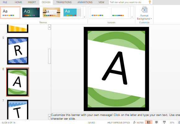 congratulations banner template for powerpoint online