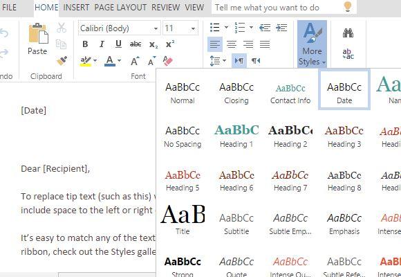 create personal letterhead