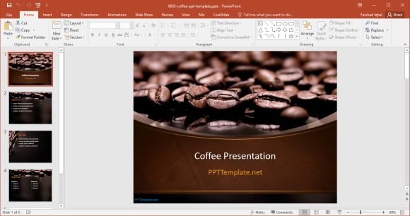 free coffee powerpoint template
