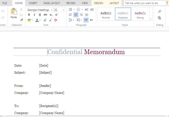 How To Make A Confidential Memo In Word