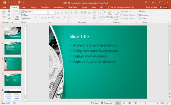construction slide design