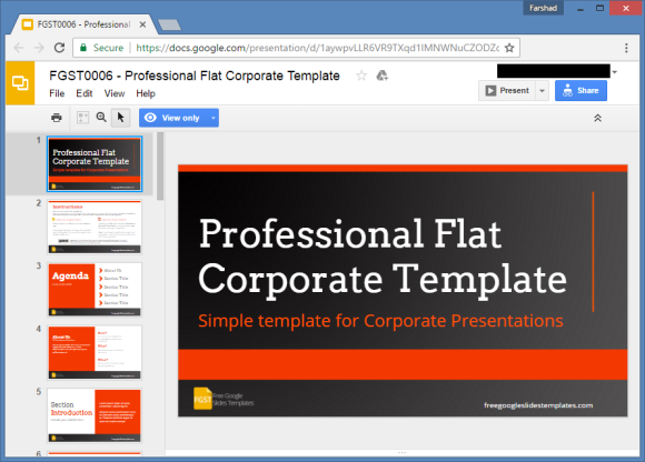 free corporate presentationgoogle slides template
