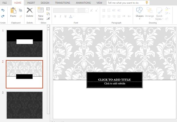 Black tie template for powerpoint online create invitations and announcements using this powerpoint template ccuart Image collections