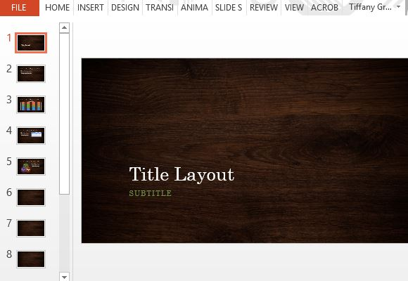 wood design powerpoint templates, Modern powerpoint