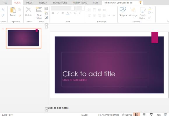 Free Purple Ion Powerpoint Template