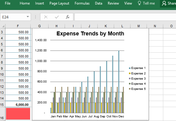 excel template for business expenses