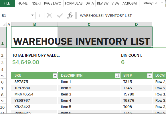 Inventory Template Excel Idealstalist
