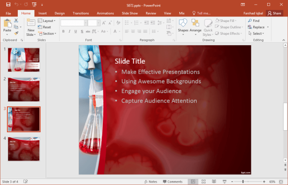 Free laboratory analysis powerpoint template this free presentation template is available as a pptx file it works with all powerpoint versions starting from powerpoint 2007 and beyond toneelgroepblik Gallery