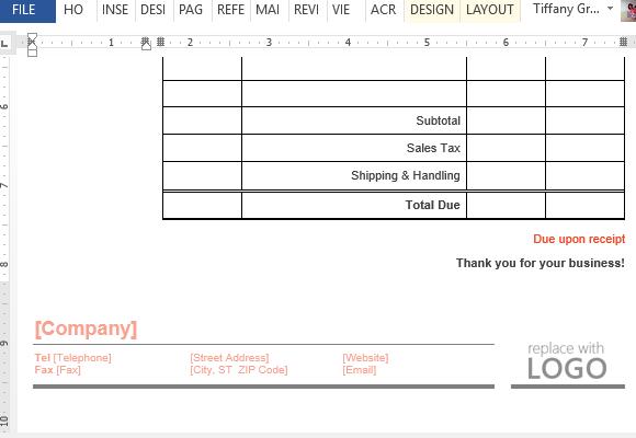 business invoice maker template for word online. Black Bedroom Furniture Sets. Home Design Ideas