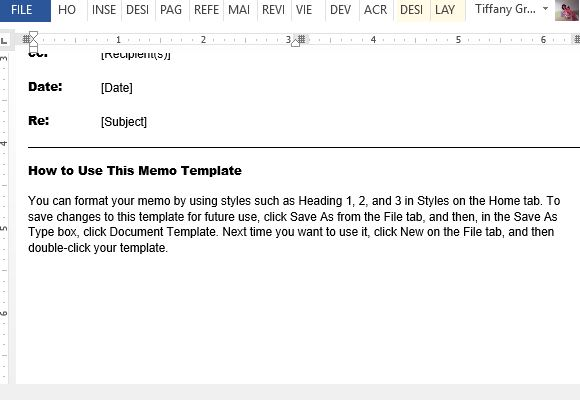 Follow The Tips And Instructions In The Sample   Memo Template Word