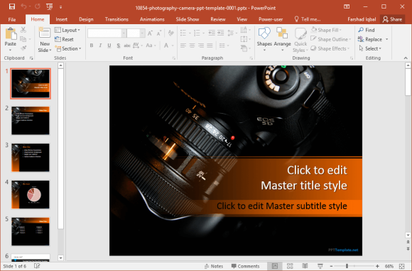 free-camera-powerpoint-template