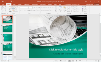 free construction powerpoint template