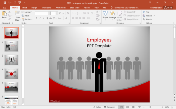 free employees powerpoint template