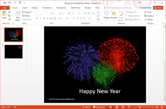 free-fireworks-template-for-powerpoint
