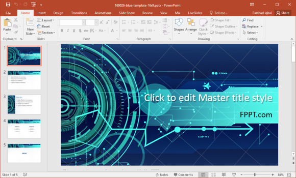 free future technology powerpoint template